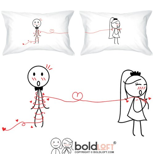 BOLDLOFT Tie The Knot Couple Pillowcases