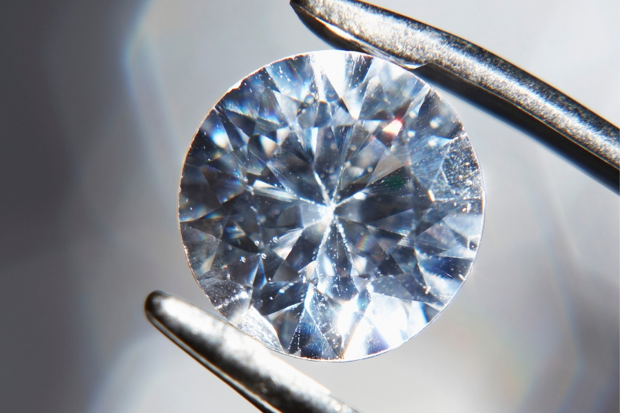 Magnified View of a Diamond