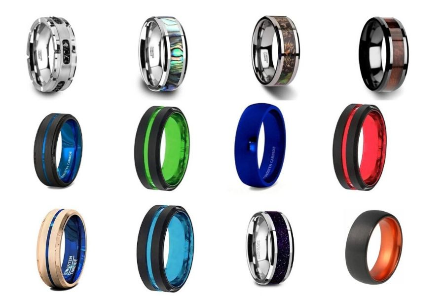 Make a Break from Traditional Wedding Rings with Black Tungsten Rings