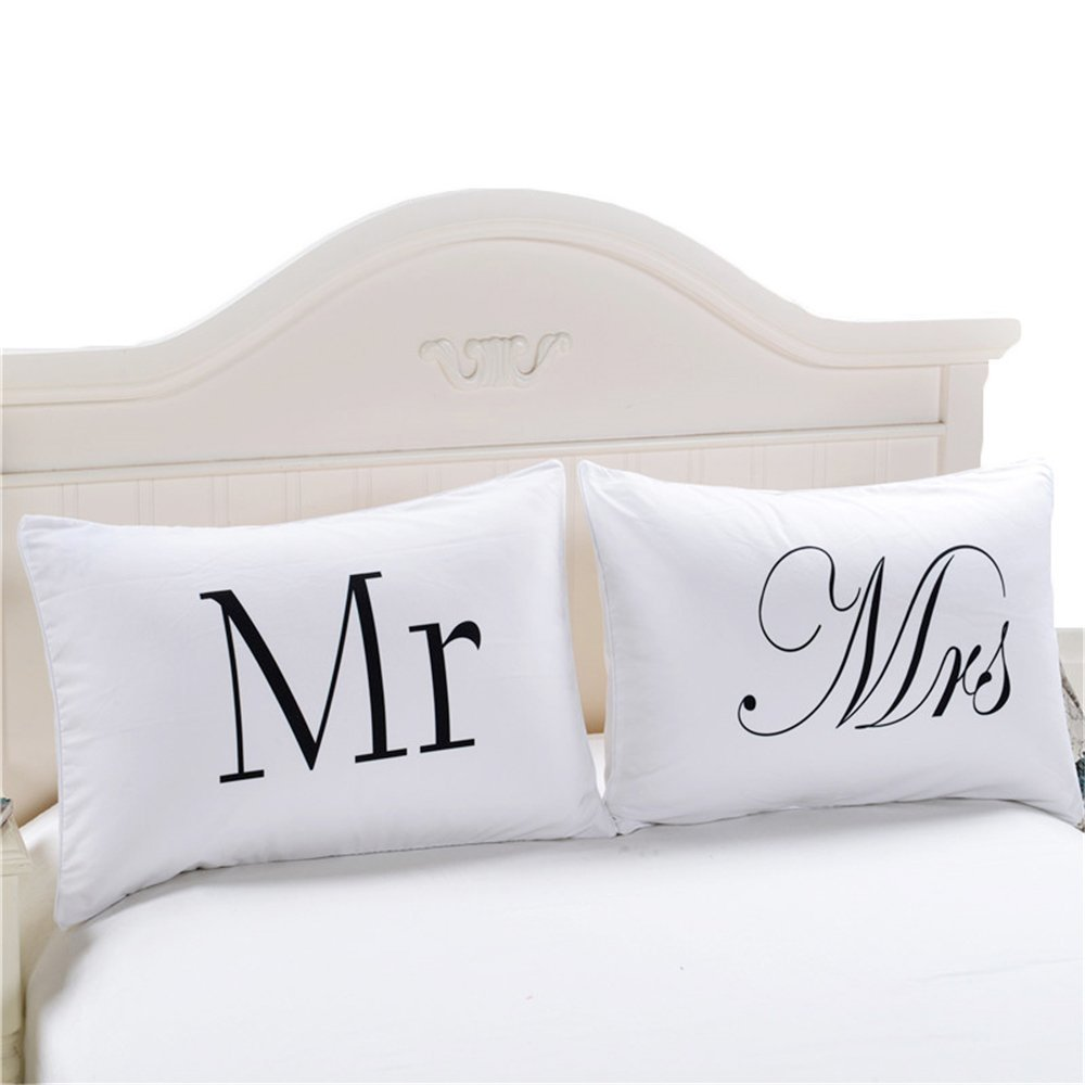 Mr and Mrs Pillow Case Gifts