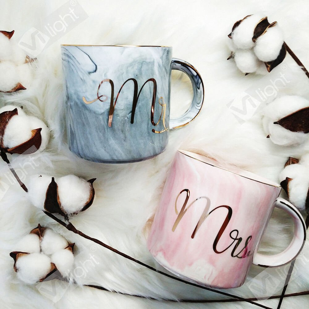 Mr. and Mrs. Ceramic Coffee Mugs
