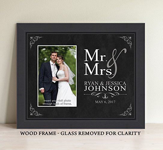 Personalized Mr and Mrs Picture Frame, Wedding Gift, Bridal Shower Gift