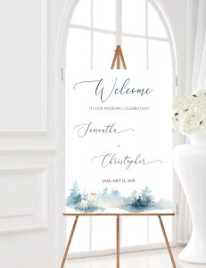 Winter Welcome Sign Portrait - WWP