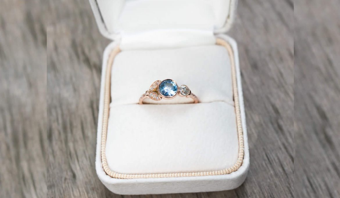 A Sapphire Engagement Ring Can Make a Statement