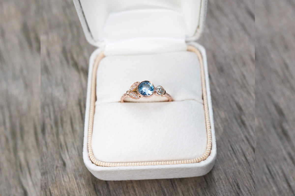 ethical sapphire engagement ring