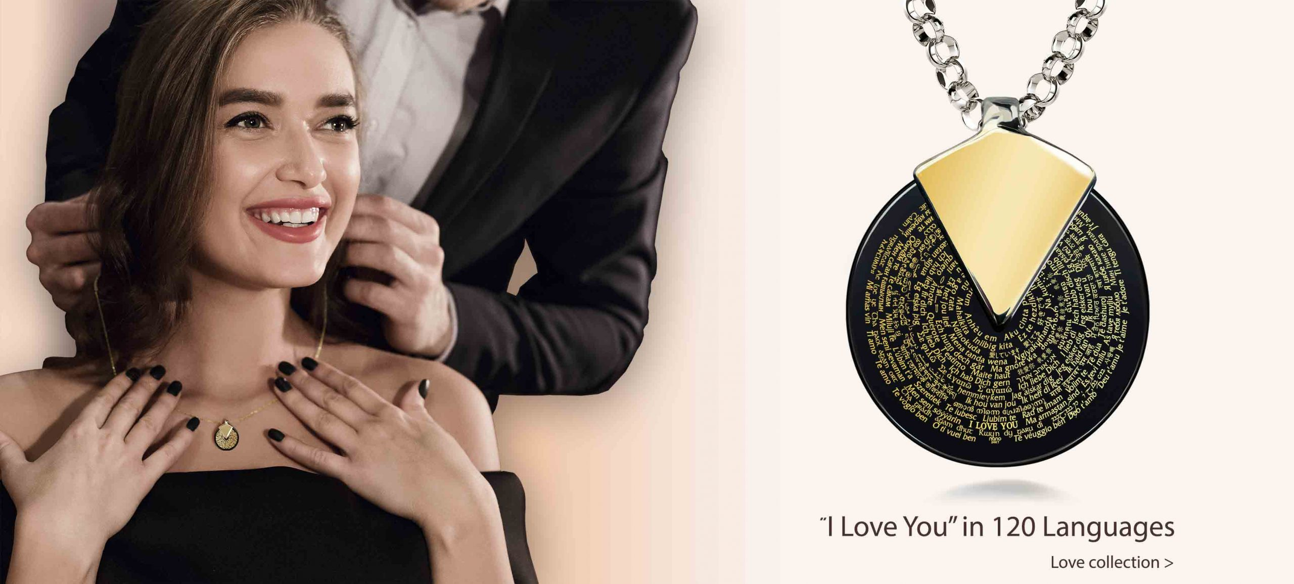 "A Great Gift Idea: ""I Love You"" in Different Languages Necklace"